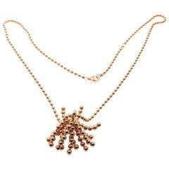 Cartier Paris Nouvelle Vague Diamond Rose Gold Pendant Necklace