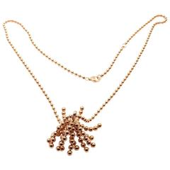 Cartier Paris Nouvelle Vague Diamond Rose Gold Pendant Necklace
