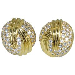 Fine Diamond Gold Earrings