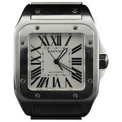Cartier Stainless Steel Santos 100 XL 38mm Case Automatic Wristwatch