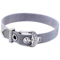 Diamonds Gold Belt Buckle Bracelet