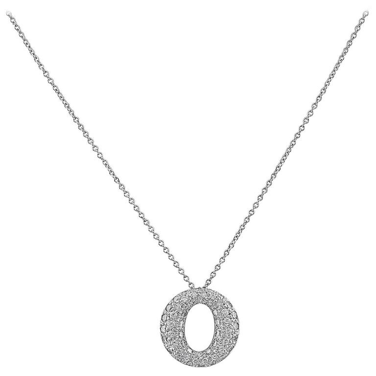 Tiffany & Co. Elsa Peretti Sevillana Platinum and Diamond Pendant Necklace For Sale