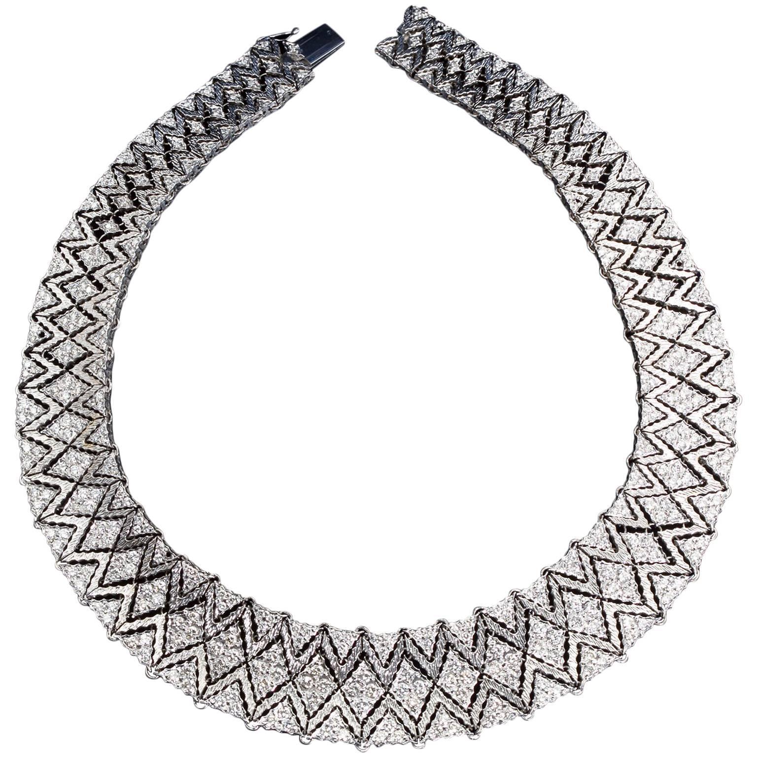 Mario Buccellati Diamond Bib Necklace