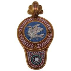 1860 Victorian Micro Mosaic Gold Pendant