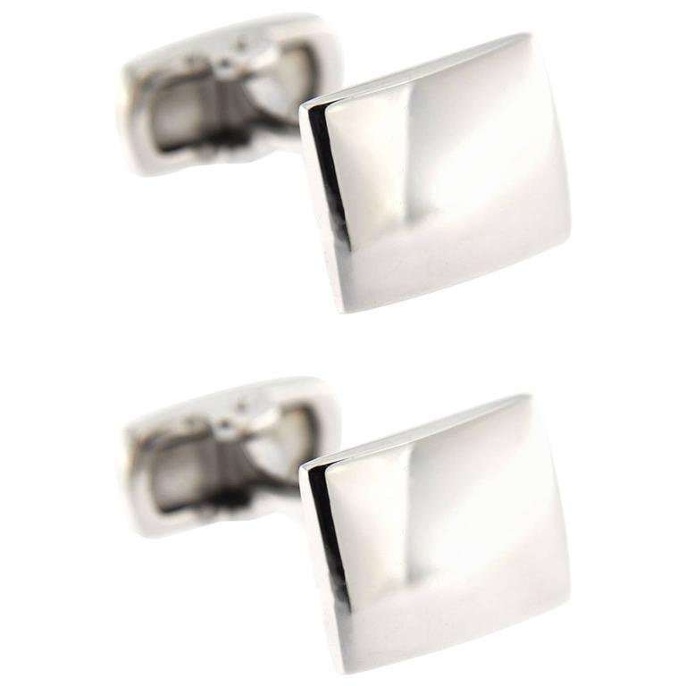 Jona Convex Silver Cufflinks For Sale
