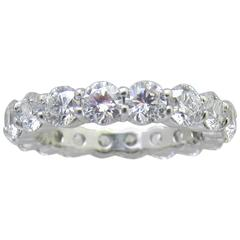 Nally 3.80 Carat Diamonds Platinum Eternity Band Ring