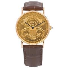 Corum Yellow Gold $20 Liberty Head US Coin Wristwatch