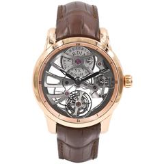 Ulysse Nardin Rose Gold Skeleton Tourbillon Wristwatch