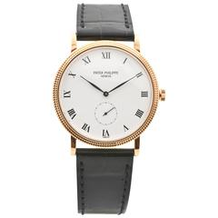 Patek Philippe Calatrava Rose Gold Wristwatch