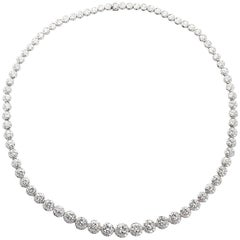 22 Carat Diamond Platinum Riviére Necklace