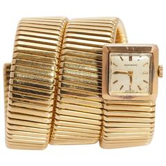 Bulgari Ladies Yellow Gold Tubogas Wristwatch