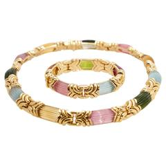 Bulgari Alveare Tourmalines Gold Set
