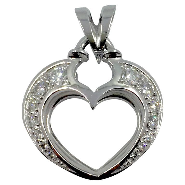 Diamond Gold Open Heart Pendant