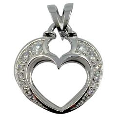 Diamond Gold Open Heart Pendant