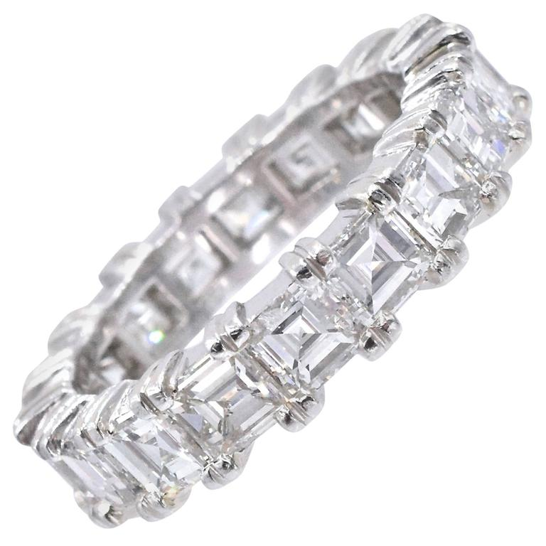 Square Shape Diamond Eternity Band Ring