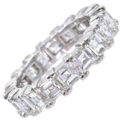 NALLY Square Shape Diamond Eternity Band Ring