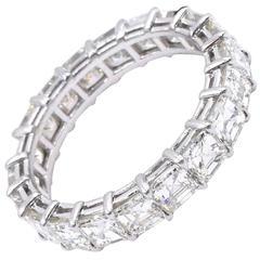 Nally Asscher Shape diamond Platinum Band Ring