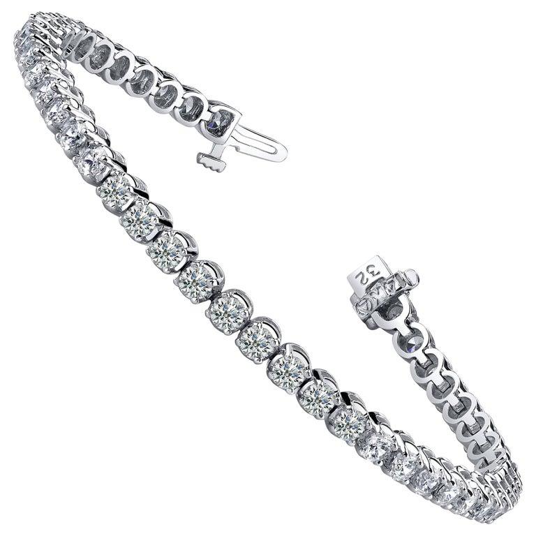 Diamond Four Prong Tennis Bracelet