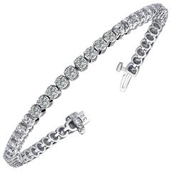 Diamond Gold Four Prong Tennis Bracelet