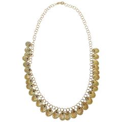 Shimmering  Gold Shell Necklace