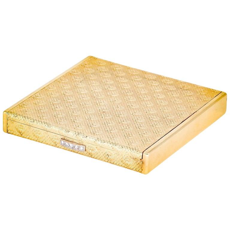 Boucheron Paris Marguerite Diamond and Gold Compact Case