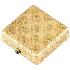 Boucheron Paris Marguerite Sapphire Gold Pill Box