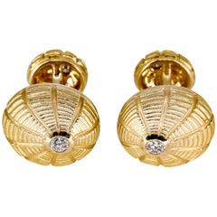 Tiffany & Co. Schlumberger Taj Mahal Diamond and Gold Cufflinks