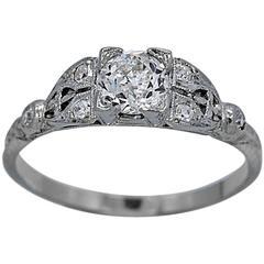 Antique .50 carat Diamond Gold Engagement Ring
