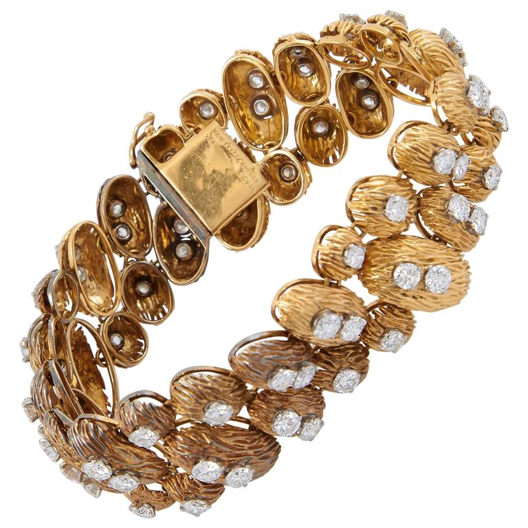 Van Cleef & Arpels Gold Diamond Bracelet