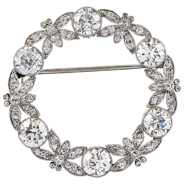 Tiffany & Co. Diamond Platinum Pin For Sale