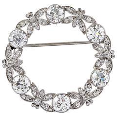Tiffany & Co. Diamond Platinum Pin