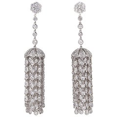 Diamond Scene Diamond Gold Tassel Earrings