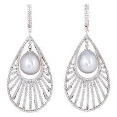 Diamond Scene Pearl Diamond Gold Fashion Earrings