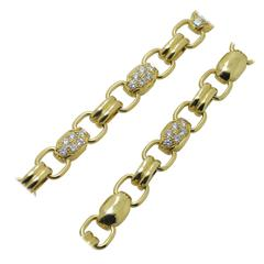 Piaget Double Sided Diamond Gold Chain