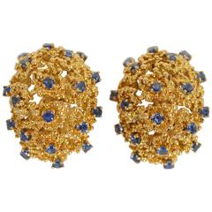 Tiffany & Co. Sapphire Gold Earrings
