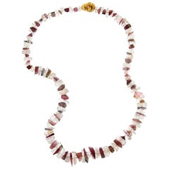 Jona Rubellite Tourmaline Morganite Necklace