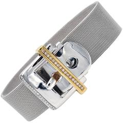 Diamonds Gold Belt Buckle Bracelet