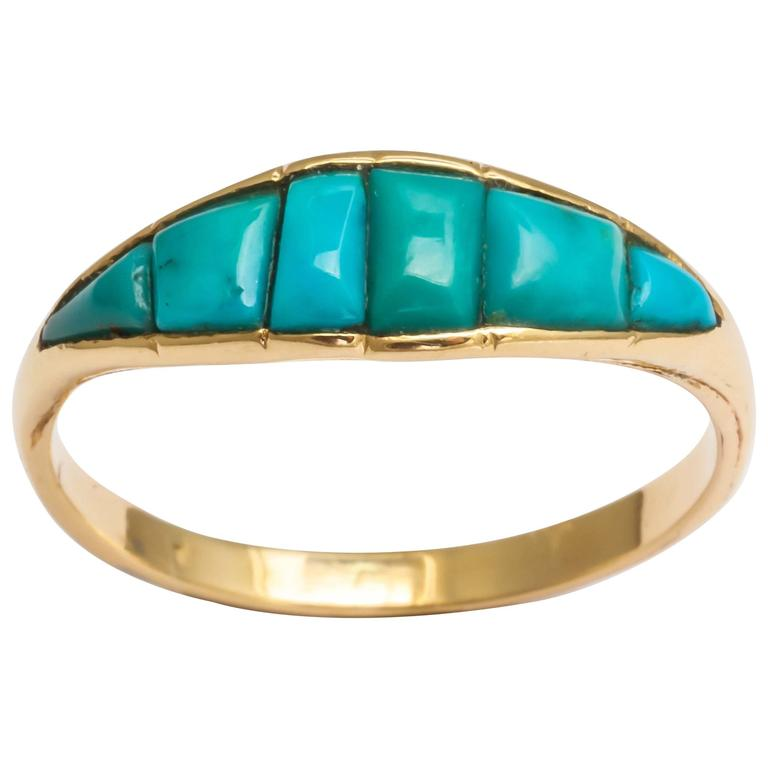 1810s antique georgian turquoise gold ring for
