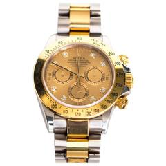 2001 Two Tone Yellow Gold and Steel K Serial Daytona Rolex Watch