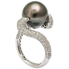 Tahitian Pearl Diamond Ring