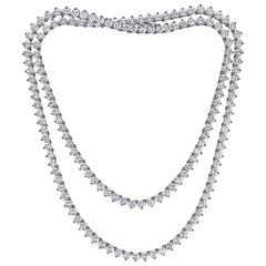 28.00 Carat Detachable Diamond Necklace