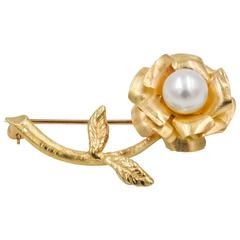 Pearl Gold Flower Pin