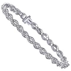 Emilio 3.00 Carat Micro Pave Diamond Gold Bracelet