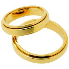 Rose Gold Piaget Spinner Wedding Bands