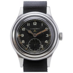 Longines Stainless Steel Broad Arrow Military Wristwatch Ref 5707