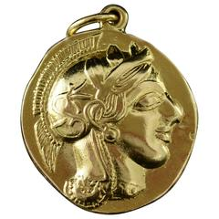 Gladiator Tribute Coin Gold Pendant