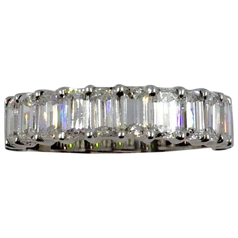 Emerald Cut Diamonds Gold Ring