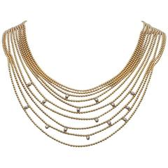 LG Treasures Cartier Diamond-Set Gold Draperie Necklace