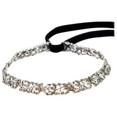 Antique English Georgian Diamond Foliate Choker
