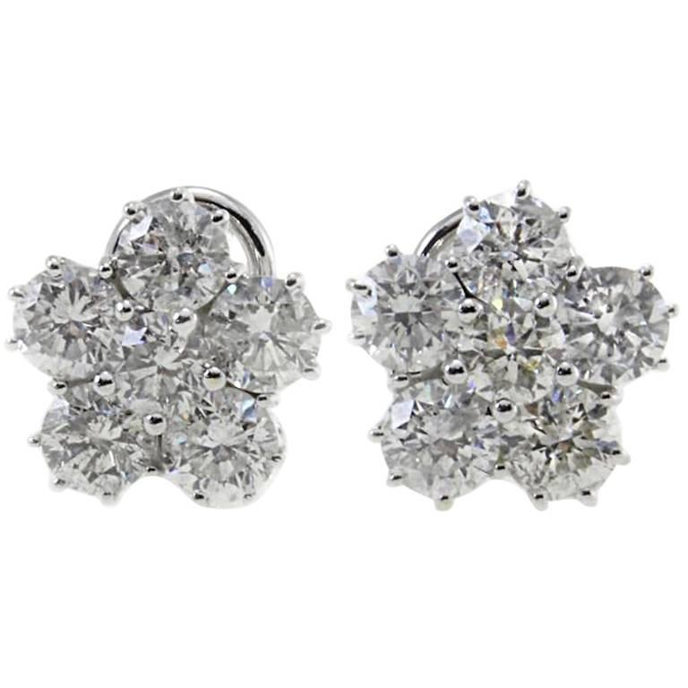Luise  Retro Diamond Gold Flower Earrings 1